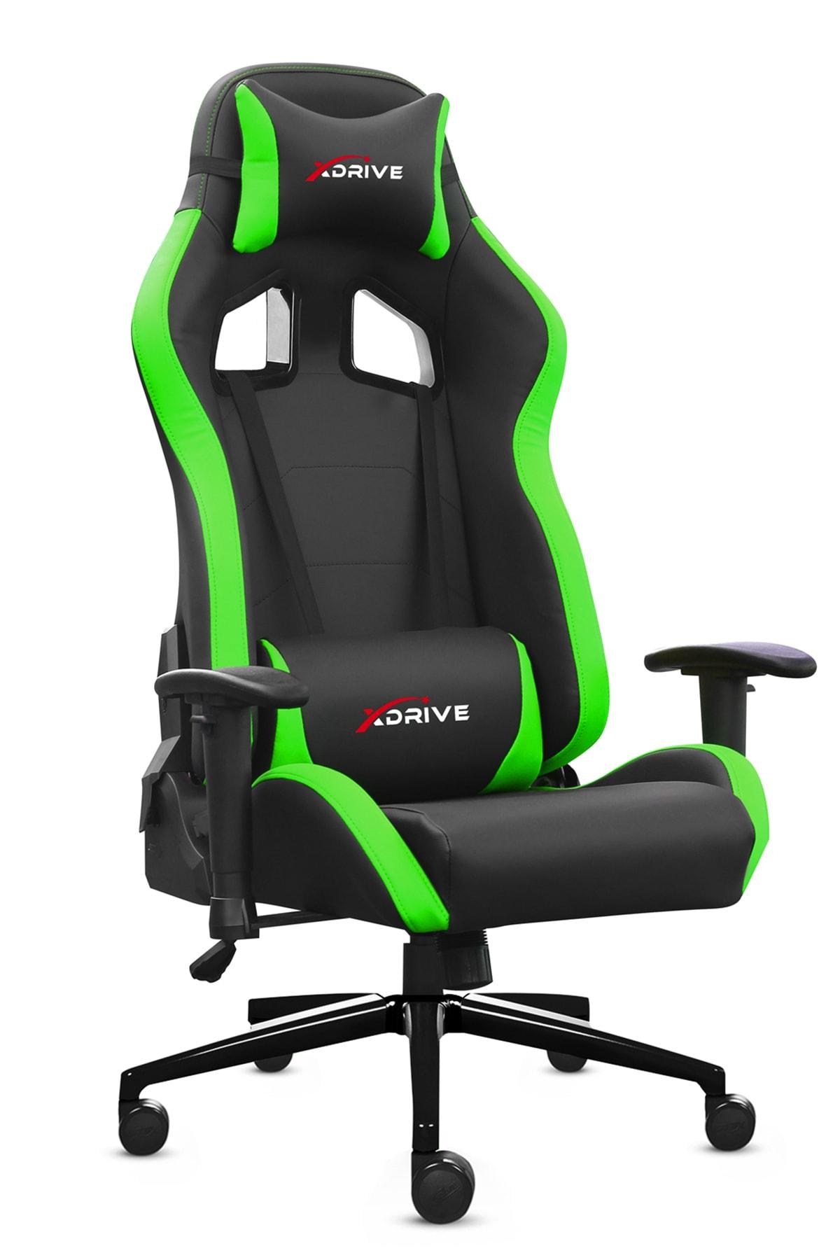XDrive 15'Li Profesyonel Oyun   Oyuncu Koltuğu Yeşil/Siyah 1