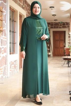 Fahima Abiye  Elbise - Zümrüt - Fhm640 0