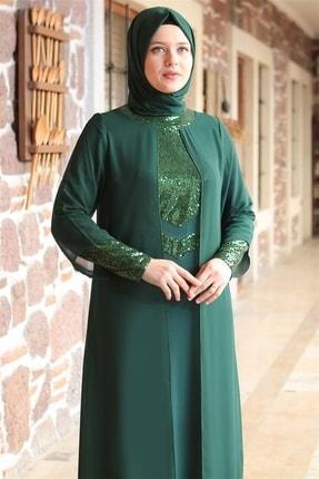 Fahima Abiye  Elbise - Zümrüt - Fhm640 1