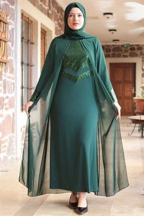 Fahima Abiye  Elbise - Zümrüt - Fhm640 2