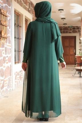 Fahima Abiye  Elbise - Zümrüt - Fhm640 3