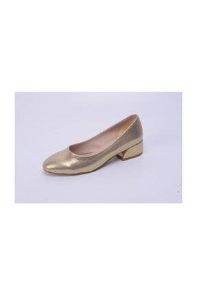 Ayakkabin11 Kadın Abiye Topuklu Ayakkabı Altın Rengi 1
