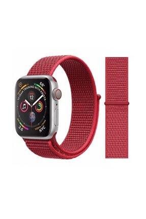 Miyosa Apple Watch 42 Mm Spor Loop Naylon Kayış Red 0