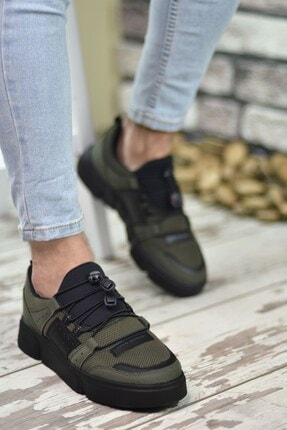 Riccon Haki Siyah Erkek Sneaker 00122023 1