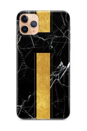 wowicase Apple Iphone 11 Pro Telefon Kılıfı Mermer Altın Şerit Tasarımlı 0
