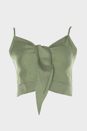 TRENDYOLMİLLA Yeşil Crop Bluz TWOSS20BZ1006 0