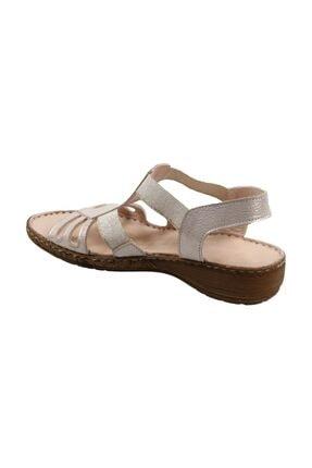 CATELLİ Kadın Ortapedik Bej Hakiki Deri Sandalet 1