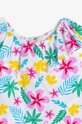 Koton Pembe Desenli Kız Çocuk T-Shirt 2