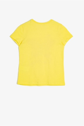 Koton Sarı Kız Çocuk T-Shirt 1