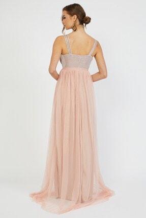 Shine İstanbul Uzun Pudra Tül Elbise 3