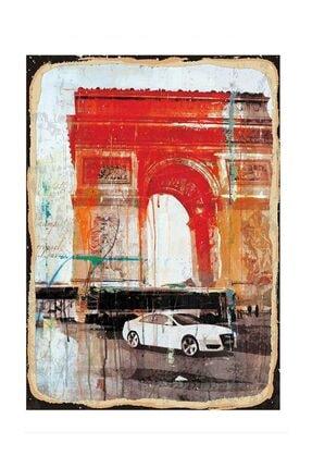 Paris Desenli Ahşap Tablo 50x70cm dikey-13762-50-70