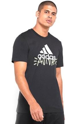 adidas Doodle Bos Erkek Siyah Günlük Tişört FN1727 0