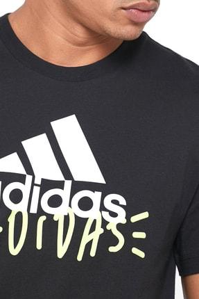 adidas Doodle Bos Erkek Siyah Günlük Tişört FN1727 2
