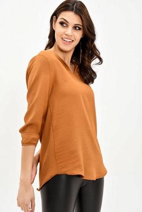 modaateşi Kahverengi Kadın Bluz 3
