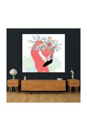 Henge Home Sulu Boya Etkili Pelikan Çiçek Deseni Duvar Örtüsü 4