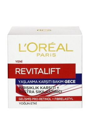 L'Oreal Paris Dermo Expertise Revitalift Gece Kremi 50 ml 0