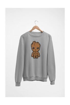 Erkek Gri Groot Bebek Sweatshirt A0126WEKB