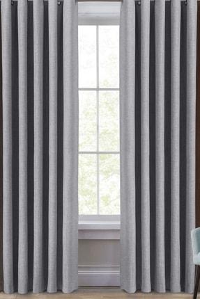 Evdepo Home Karartma Blackout Pilesiz Fon Perde-açık Gri 130x250 cm 0