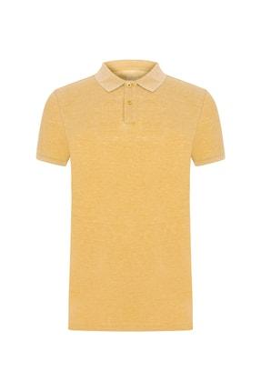 Mudo Erkek Koyu Sarı Polo Yaka Pamuklu T-Shırt 371578 0