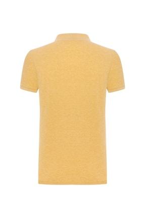 Mudo Erkek Koyu Sarı Polo Yaka Pamuklu T-Shırt 371578 1