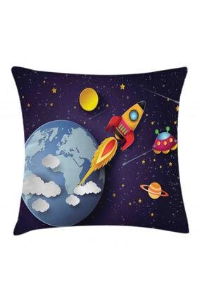 Orange Venue Uzay Minder Kılıfı Dünya Ve Uçan Gemi 0