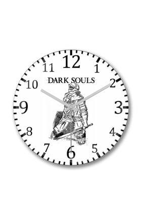 Baskı Dükkanı Dark Soul 2 Duvar Saati Bombeli Gercek Cam 0