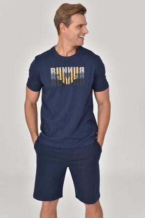 bilcee Lacivert Erkek T-shirt  GS-8811 4