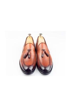 BYŞENOLİLHAN Deri Loafer Kahverengi Erkek Ayakkabı 1