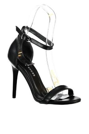 Fox Shoes Siyah Kadın Topuklu Ayakkabı 3