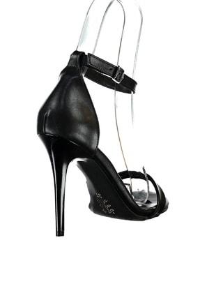 Fox Shoes Siyah Kadın Topuklu Ayakkabı 2