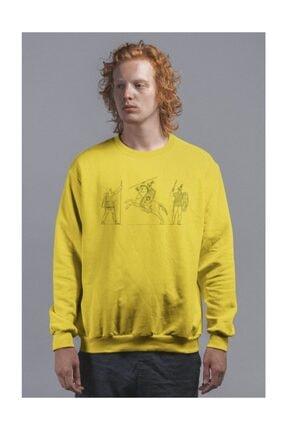 Angemiel Erkek Wear Antik Savaş Sahnesi Sweatshirt 1