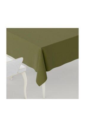 LARİS Duck Kumaş Masa Örtüsü Leke Tutmaz Yeşil 110x110 cm 0