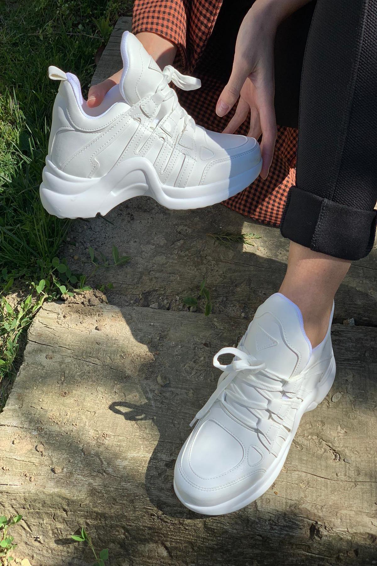 İnan Ayakkabı Kadın Beyaz Spor Ayakkabı