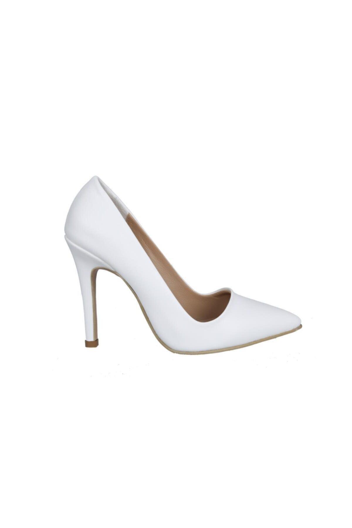 MİSS PARK MODA Beyaz Kadın Stiletto