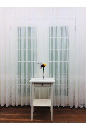 Esse Home Yüksek Gramajlı Etek Brode Işlemeli Tül Perde, 300x250, Sık Pile, 1/3 0