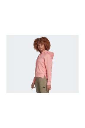 adidas Pembe Kadın Günlük Ceket Fl1950 W Rib Hoodie 3