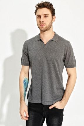 CHUBA Antrasit Erkek Polo Yaka Yırtmaçlı Sportriko T-shirt 2