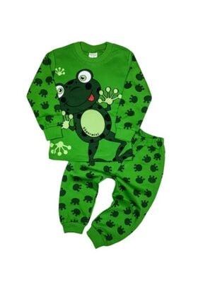 Süpermini Kız Çocuk 4-5-6 Yaş Kurbağalı Pamuklu Pijama Takımı 0
