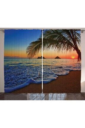 Orange Venue Sahil Perde Denizde Gün Batımı 0