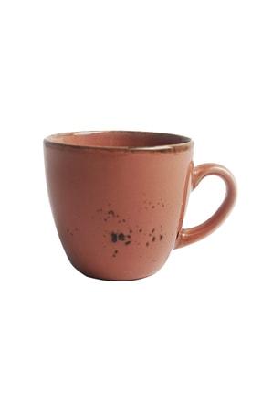 Tulü Porselen Luna Lokumluklu Pembe 6 Kişilik Kahve Fincan Takımı 2