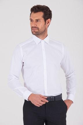 Hatemoğlu Slim Fit Beyaz Gömlek 0