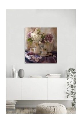 Tablosan Vazoda Çiçekler Fotoğraf Kanvas Tablo 90x120 1