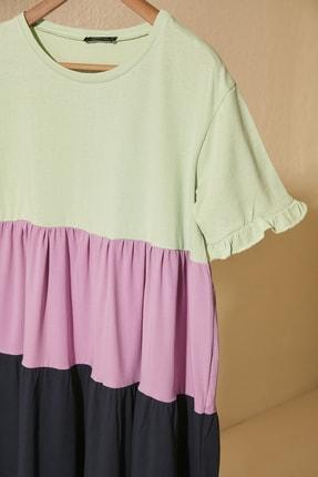 TRENDYOLMİLLA Mint Renk Bloklu Örme Elbise TWOSS20EL1638 1