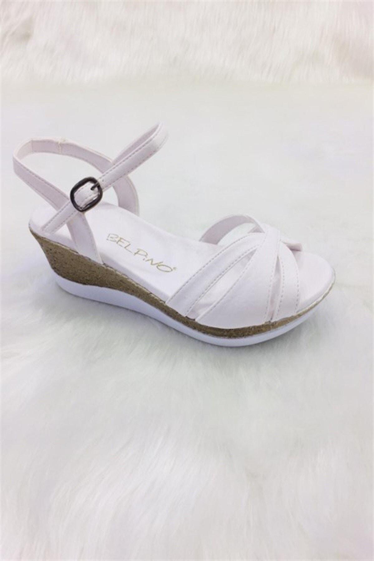 BELPİNO Comfort Kadın Dolgu Tabanlı Sandalet (2)