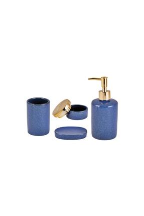 Karaca Mavi 4'lü Banyo Seti 0