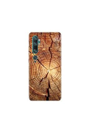 cupcase Xiaomi Mi Note 10 Kılıf Desenli Esnek Silikon Telefon Kabı Kapak - Wood 0
