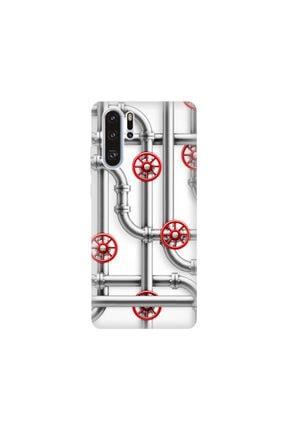 cupcase Huawei P30 Pro Kılıf Desenli Esnek Silikon Telefon Kabı Kapak - Borular 0