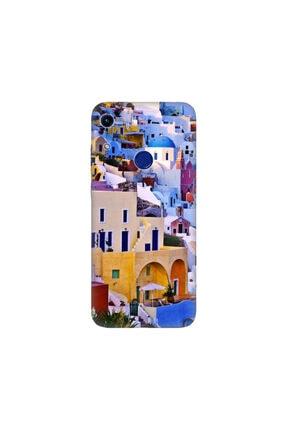 cupcase Huawei Honor 8a Kılıf Desenli Esnek Silikon Telefon Kabı Kapak - Santorini 0