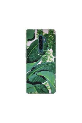 cupcase Oppo Reno2 Z Kılıf Desenli Esnek Silikon Telefon Kabı Kapak - Yeşil Üzüm 0