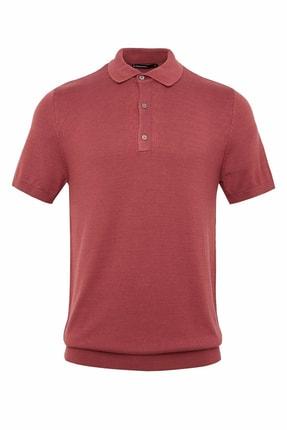 Defacto Erkek Bordo Polo Yaka Triko T-Shirt 0